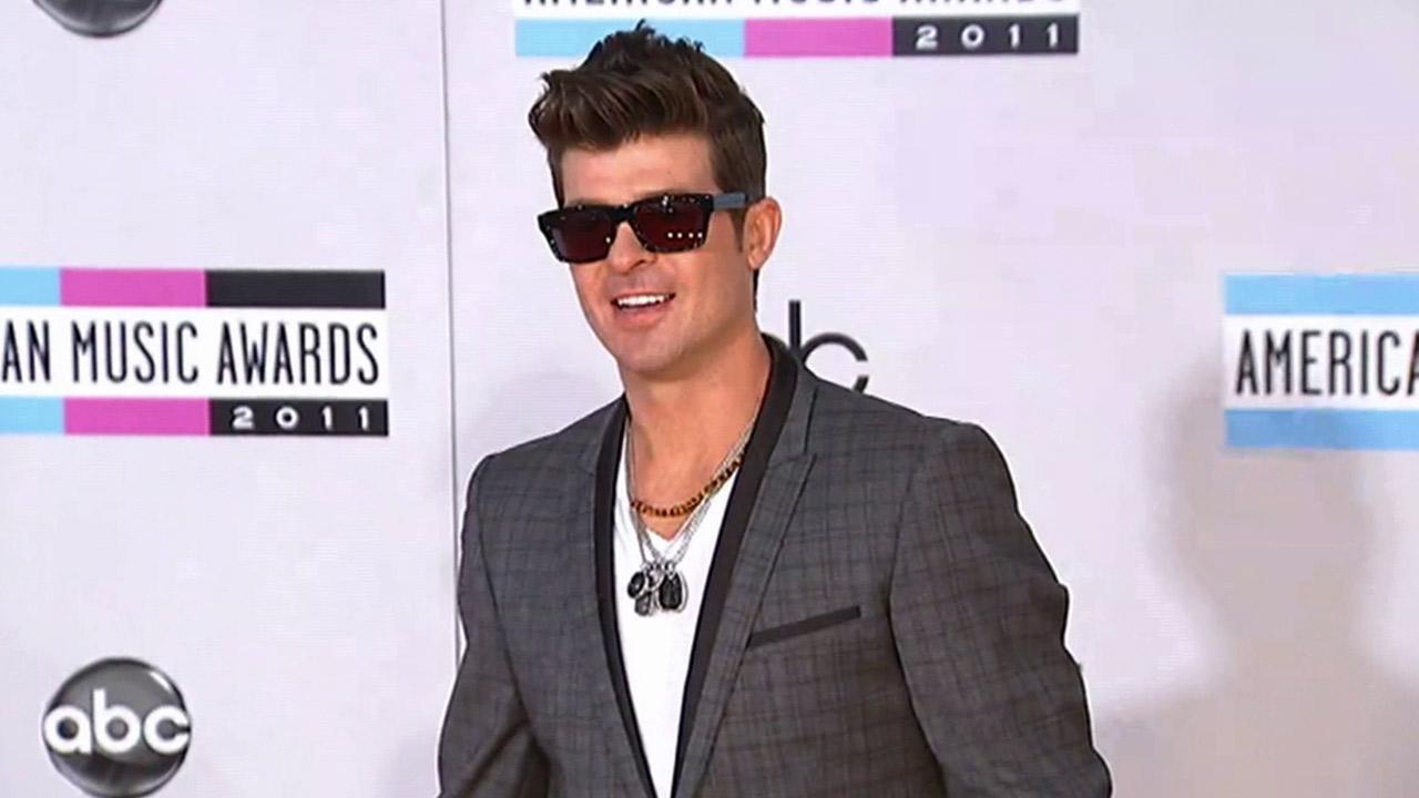 R&B crooner Robin Thicke is seen in this undated file photo.