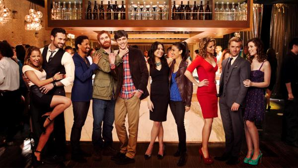 The cast of ABC's new comedy 'Mixology,' set to premiere in February 2014.