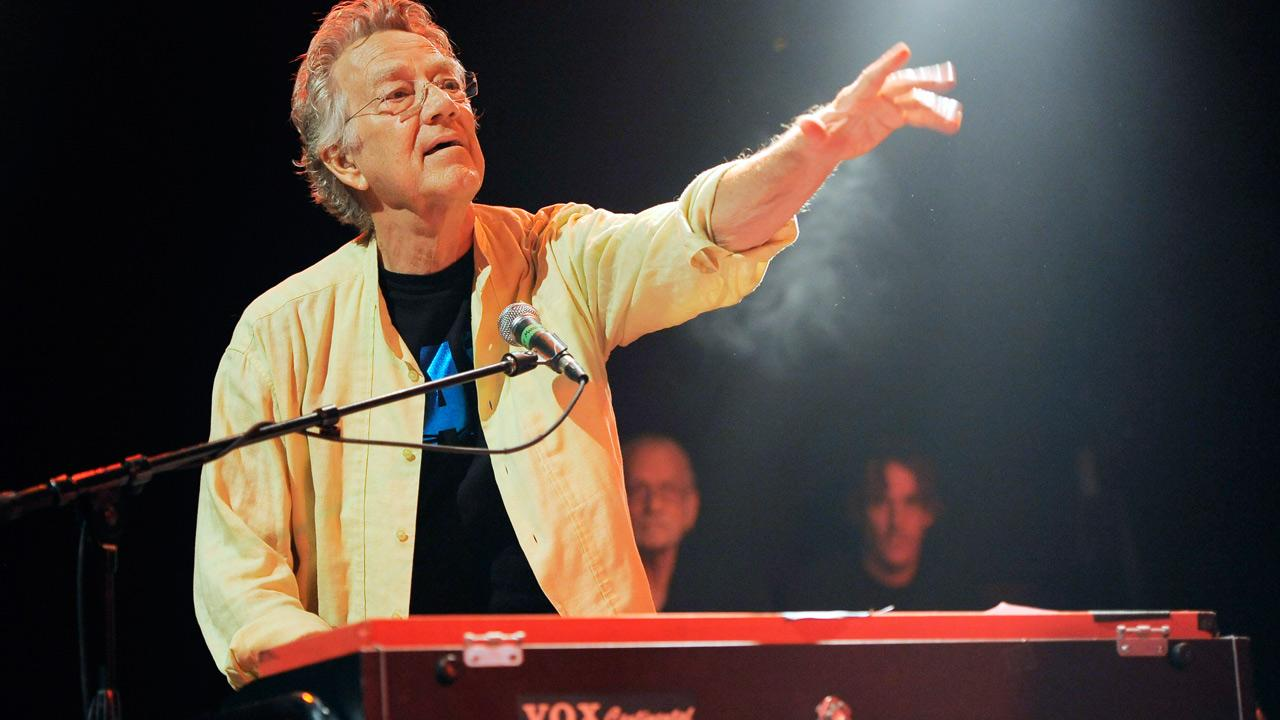 In this Aug. 16, 2012 file photo, Ray Manzarek of The Doors performs at the Sunset Strip Music Festival launch party celebrating The Doors at the House of Blues in West Hollywood, Calif.Chris Pizzello/Invision