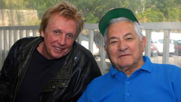 Former Jefferson Airplane drummer Joey Covington, left, and Mario Maglieri of the Whisky A Go Go appear in this 2008 photo on Covington's website.