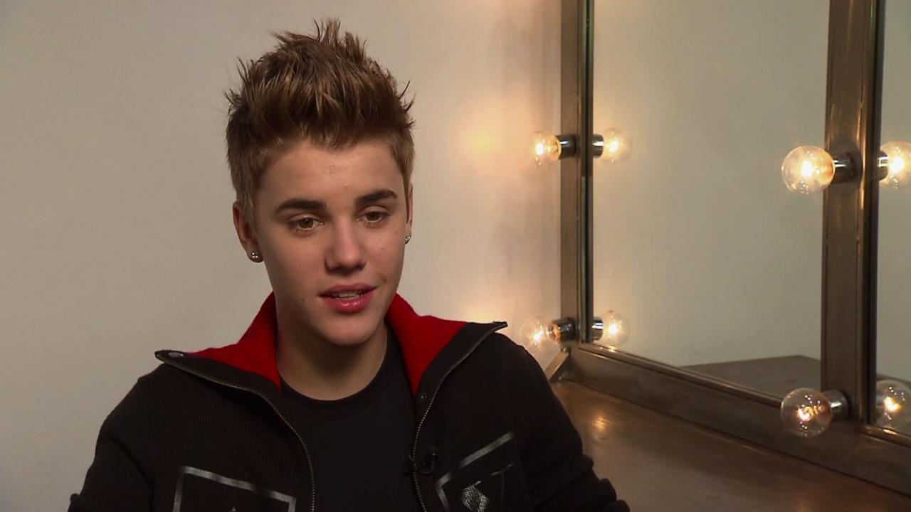 Singer Justin Bieber is seen being interviewed in this undated file photo.