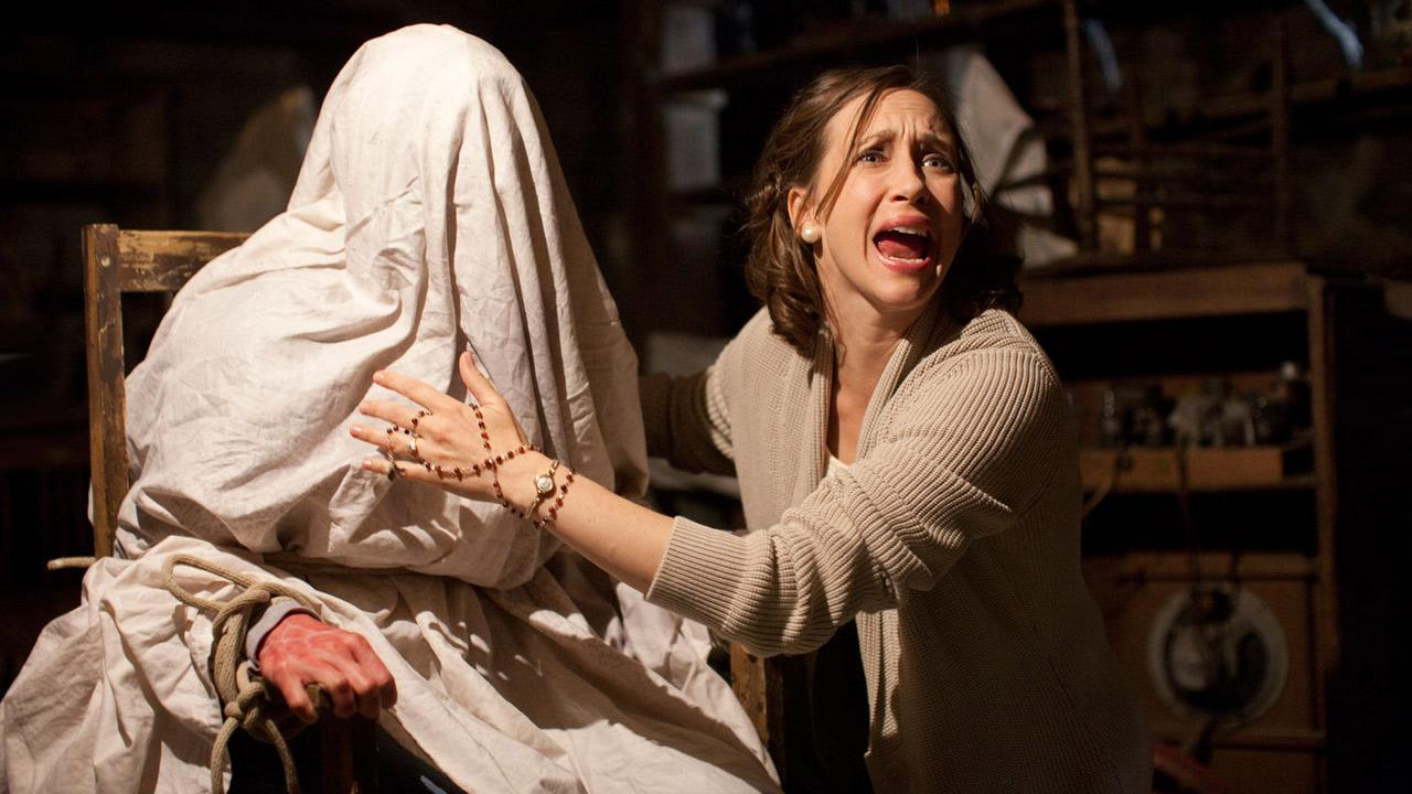 Vera Farmiga in a scene from the 2013 horror film, The Conjuring.