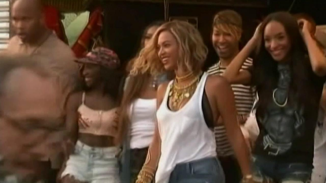 Beyonce appears at Coney Island, August 2013.