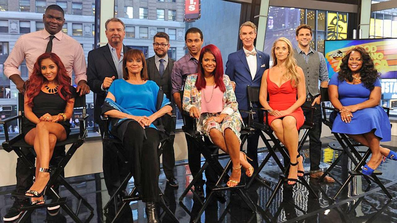 The new cast of Dancing With the Stars season 17 poses for a photo after their identities were revealed on Good Morning America on Wednesday, Sept. 4, 2013.