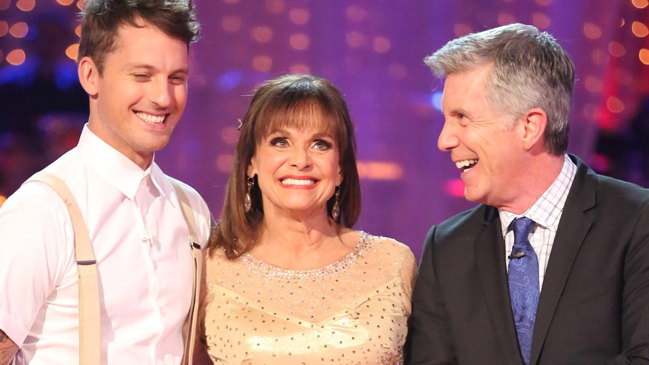 Valerie Harper and partner Tristan MacManus were eliminated from Dancing With The Stars on Monday, Oct. 7, 2013.