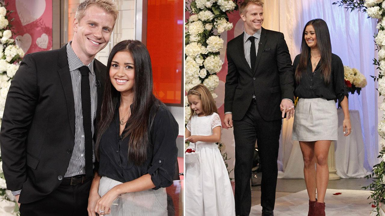 Sean Lowe and Catherine Giudici appear on Good Morning America on Monday, Oct. 14, 2013.
