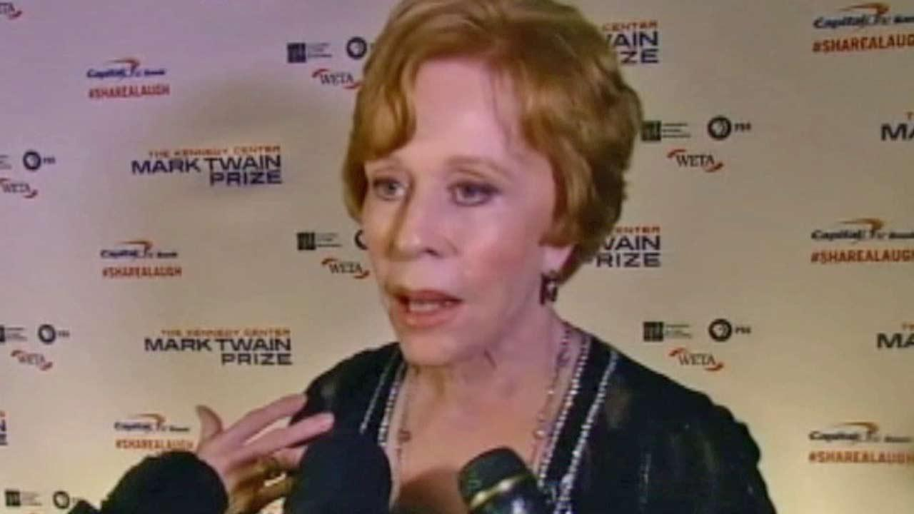 Longtime performer Carol Burnett was awarded the 16th Annual Mark Twain Prize at the Kennedy Center on Sunday, Oct. 20, 2013 in Washington, D.C.