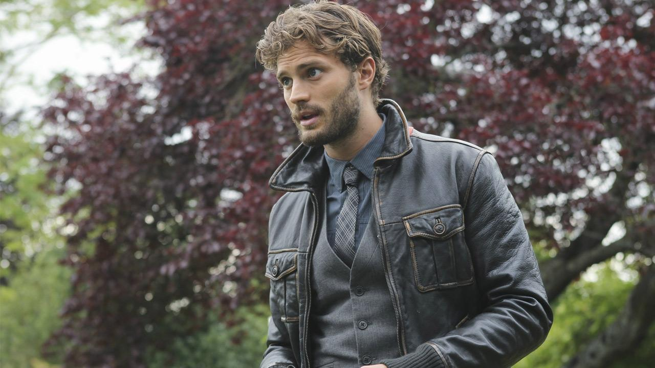 Jamie Dornan appears in a scene from Once Upon a Time as Sheriff Graham.