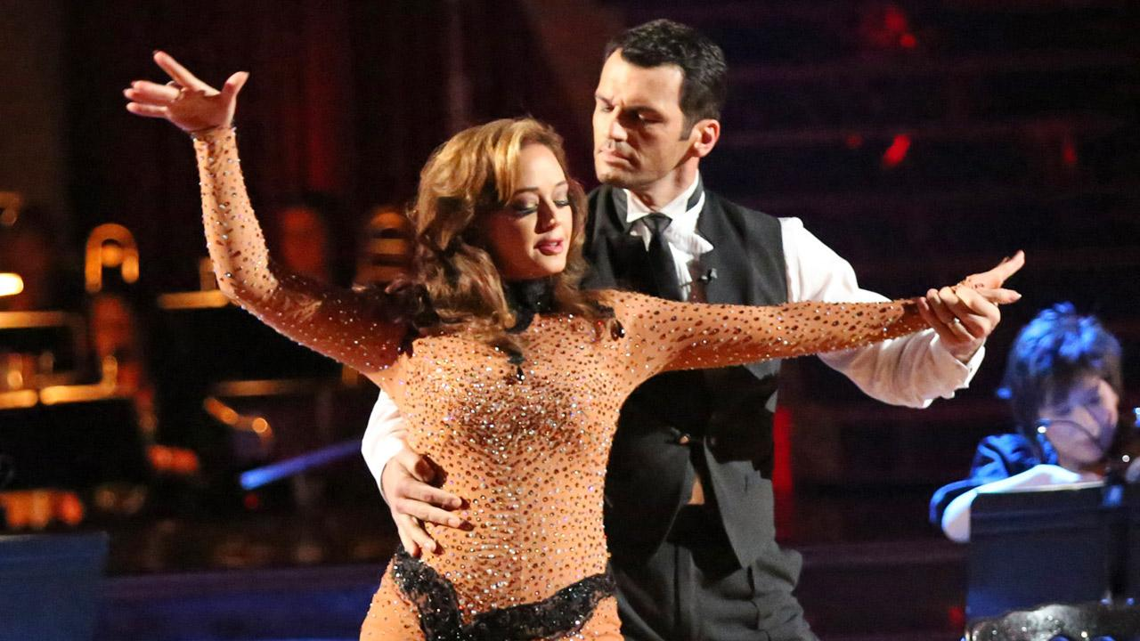 Leah Remini and Tony Dovolani perform during week 10 of Dancing With The Stars on Monday, Nov. 18, 2013.