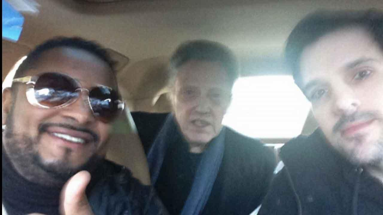 After failing to flag down a cab, actor Christopher Walken hitched a ride from a pair of lucky fans in New York City on Tuesday, Nov. 19, 2013.
