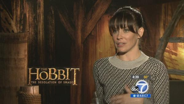 Evangeline Lilly talks 'The Hobbit' film