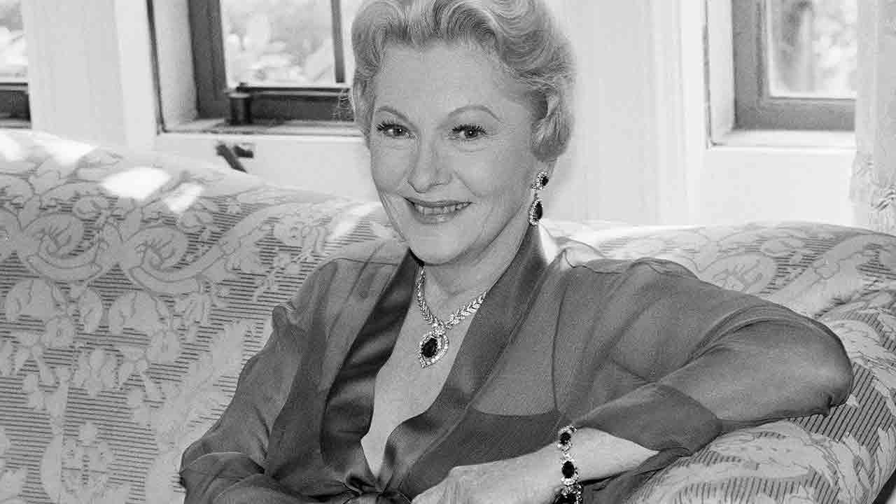 Actress Joan Fontaine poses for photographer in April 1985 in Beverly Hills. Fontaine died in her sleep of natural causes at her home in Carmel Sunday Dec. 15, 2013.Michael Tweed