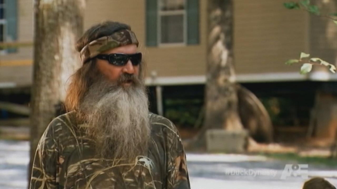 Phil Robertson is seen in a still from Duck Dynasty.