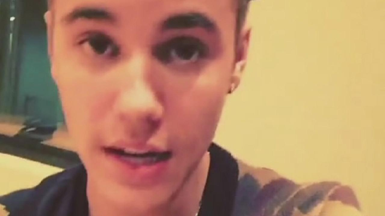 Justin Bieber is seen in a video posted on his Instagram account on Wednesday, Jan. 29, 2014.