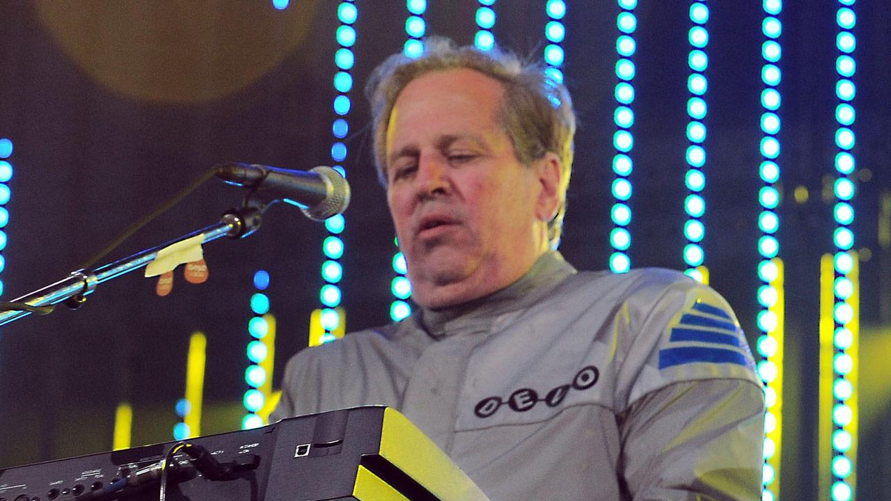 This June 5, 2010 file photo shows Bob Casale performing live at The 2010 KROQ Weenie Roast in Irvine, Calif. Casale, of the band Devo best known for the 1980s hit Whip It, died Monday, Feb. 17, 2014, from conditions that led to heart failure.Katy Winn, File