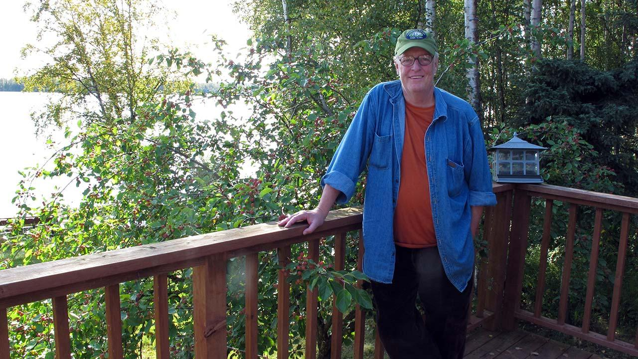 Author Joe McGinniss, who was working on a book on former Alaska Gov. Sarah Palin, poses for a photograph at the home he rented next to Palins home in Wasilla, Alaska on Sept. 3, 2010.Dan Joling