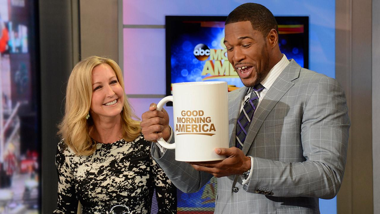 Michael Strahan makes his debut as newest correspondent on Good Morning America on Tuesday, April 15, 2014.