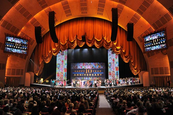 A wide view of a taping of 'The Oprah Winfrey Show' live from Radio City Music Hall, Friday, May 7, 2010 in New York. 'The Oprah Winfrey Show' is distributed to 150 countries outside of the United States.