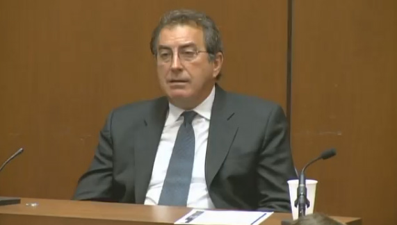 Kenny Ortega, Michael Jackson&#39;s choreographer and friend, testifies at the involuntary manslaughter trial of Dr. Conrad Murray in Los Angeles, Tuesday, September, 27, 2011. <span class=meta>(KABC)</span>
