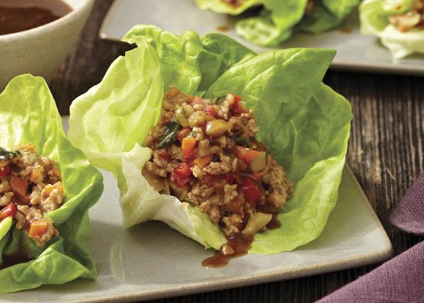 Chicken Lettuce Cups with Hoisin Sauce Recipe | Food Coach Lori Corbin ...