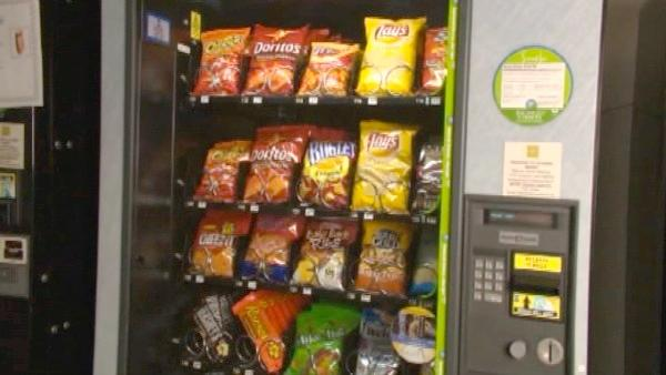 If you need a snack and you have to eat from the vending machine, what's the smartest choice?  Sh