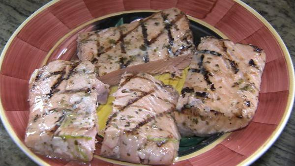 Nutritionist JJ Virgin says, 'Don't put extra salmon on the table, because you will think, 'Oh but it's healthy.' That's that halo effect - too much healthy food isn't healthy.'