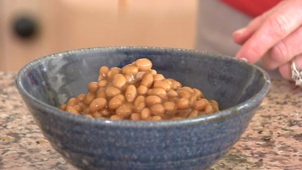 You'll find a cup of Bush's Baked Beans has 24 grams or 6 teaspoons of sugar, although they suggest you eat a half cup.