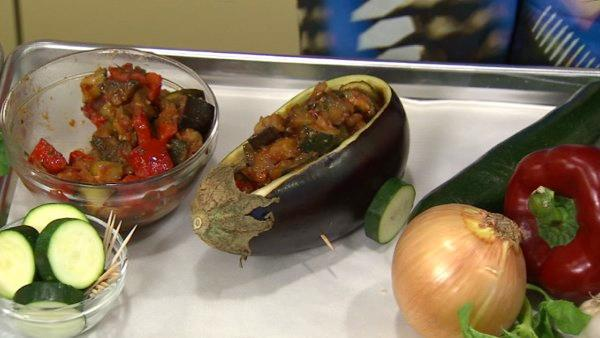 Or make food fun with an eggplant wagon filled with zesty eggplant, tomato and zucchini ragout.