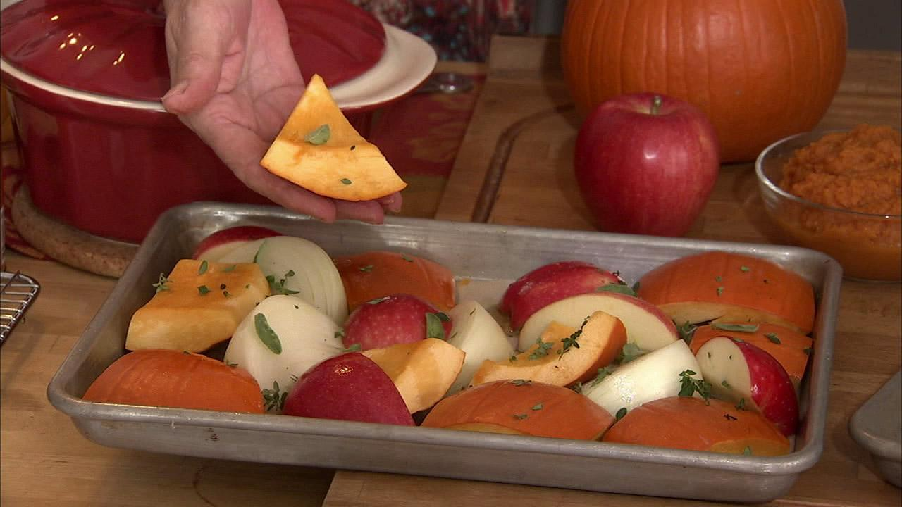 Remember that sage, thyme, cumin or cayenne are all great spices that marry well with pumpkin.