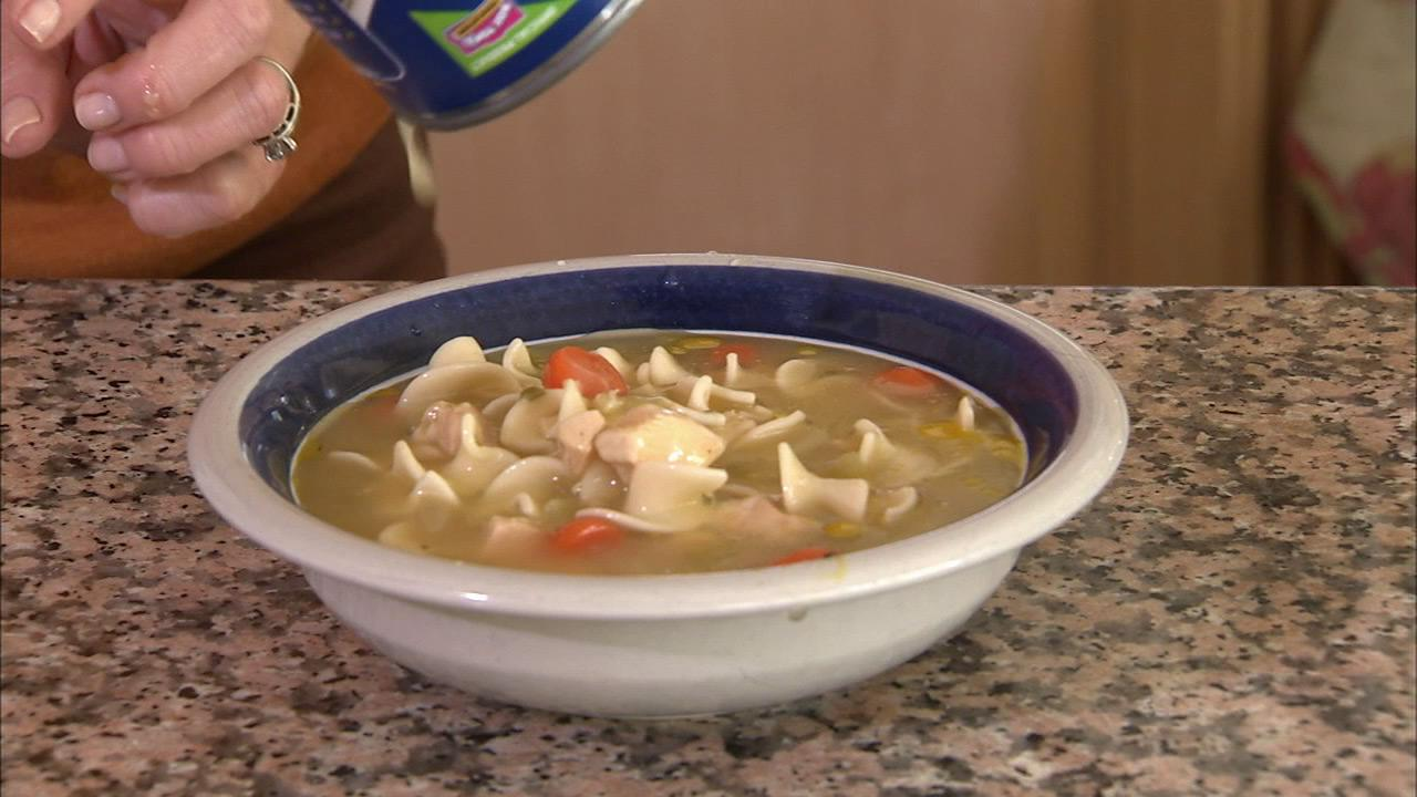 A bowl of chicken noodle soup is seen in this undated file photo.