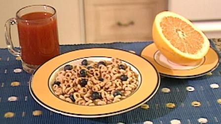 A breakfast spread of cereal, grapefruit and juice is seen in this file photo.