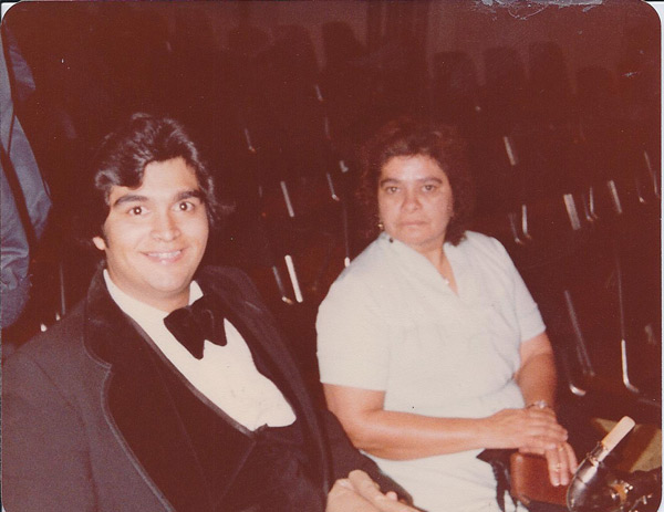 Sid Garcia  says, &#39;This is my mother and me after a symphonic band concert &#40; I played bass clarinet&#41; when I was a student at Long Beach State. This was 1980.  Mom was the biggest activities booster for me and my sisters&#39; Brenda and Connie when we were in school and college.&#39;  <span class=meta>(Sid Garcia)</span>