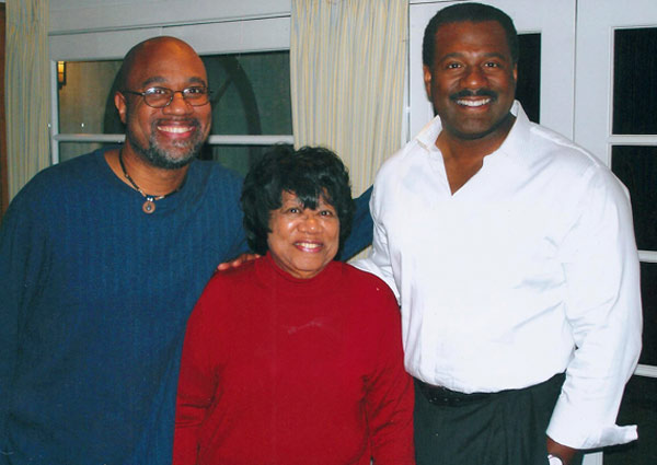 Photo of Marc Brown of the ABC7 Eyewitness News team and his mother.