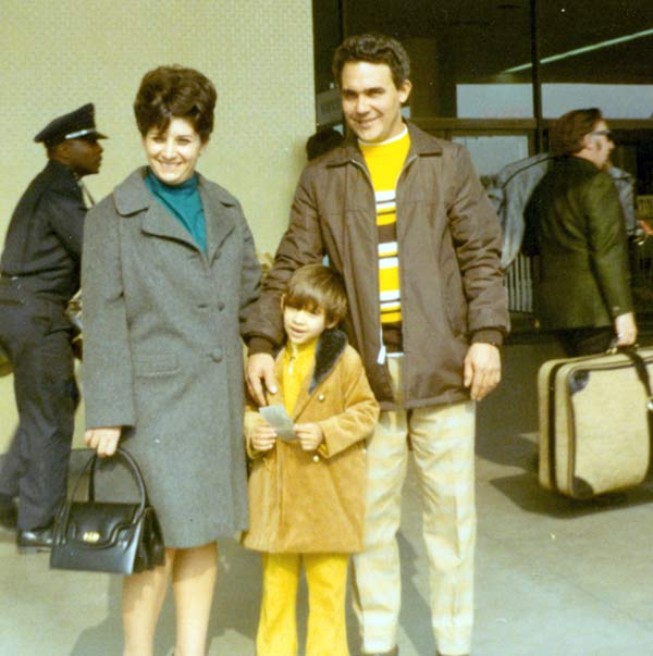 Jovana Lara says, &#39;This is me and my parents at LAX. My mom and I had just arrived from Cuba. I was six years old and hadn&#39;t seen my father for more than a year, a great family reunion.&#39; <span class=meta>(Jovana Lara)</span>