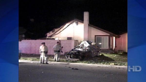 Pursuit crash in Fontana, Calif.