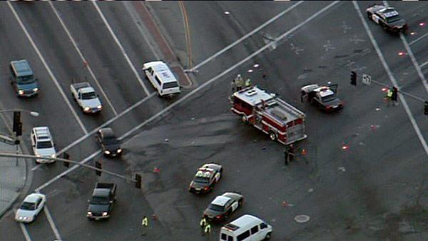 Fire truck collides with vehicle in Mira Loma