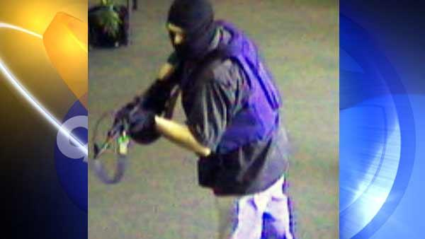 Chino bank robber opens fire on officer