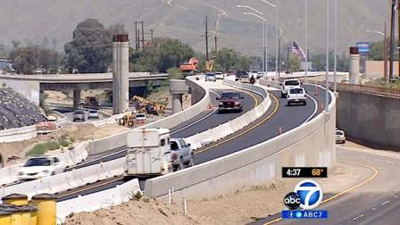 A stretch of Interstate 215 shut down since Friday reopened ahead of schedule Sunday, May 6, 2012.