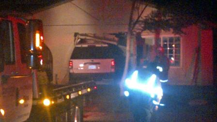 A driver of an SUV crashed into a home on the 5500 block of Sulphur Drive in Jurupa Valley on Monday, July 9, 2012.