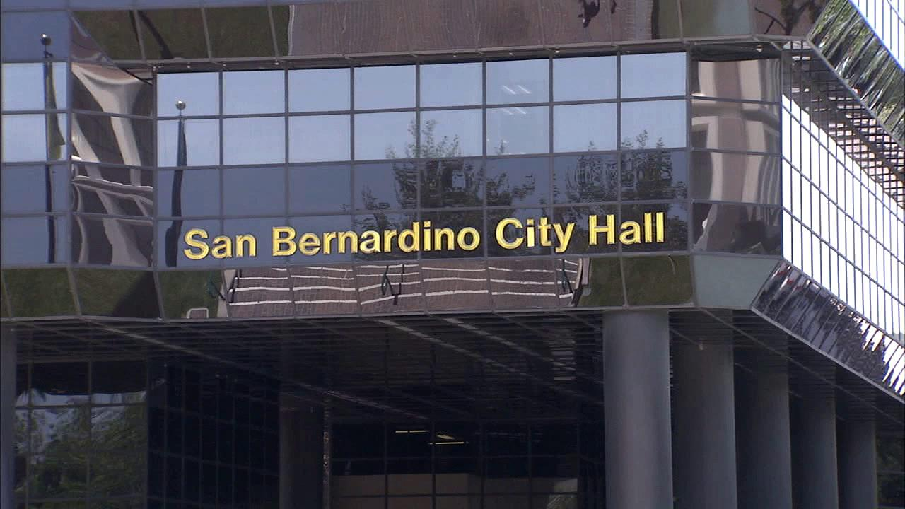 The San Bernardino City Hall exterior is seen in this file photo from Tuesday, July 10, 2012.
