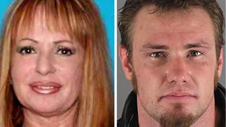 Christine Stewart, 47 (left), and Joseph Dorsey, 28 (right), are seen in this file photo. Dorsey has been formally charged with Stewarts murder after her body was found in a suitcase at a Poway motel on Wednesday, August 8, 2012.