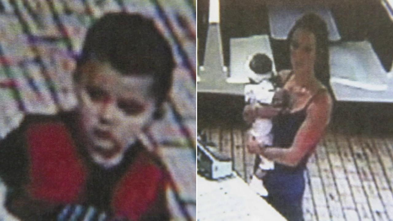 Elijah Cardenas, 2, has allegedly been kidnapped by his mother, 21-year-old Stacey Nicole Patterson Wednesday afternoon from a McDonalds restaurant in Rialto.
