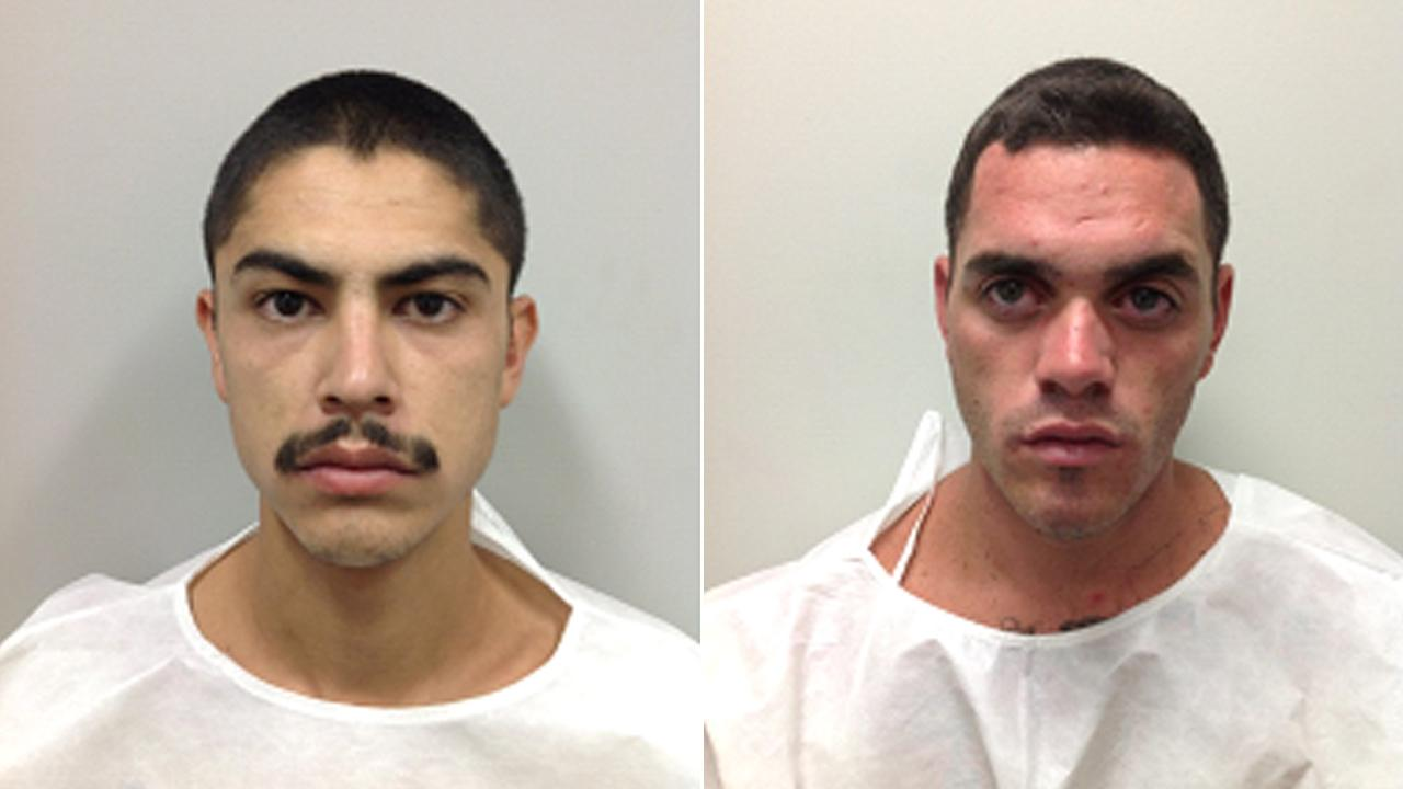 Anthony Ramirez, 26, (left) and Rusty Minor, 24, (right) were arrested in connection to a shooting that killed one person and injured another on Sunday, Sept. 30, 2012.