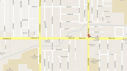 A map indicates the location of an attempted kidnapping near Sterling Avenue and Baseline Street in Highland on Wednesday, Oct. 3, 2012.