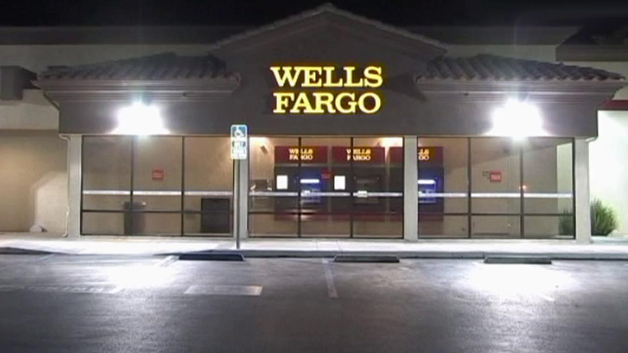 Investigators said a man was fatally shot in his car near a Wells Fargo Bank in Victorville on Sunday, Oct. 7, 2012.