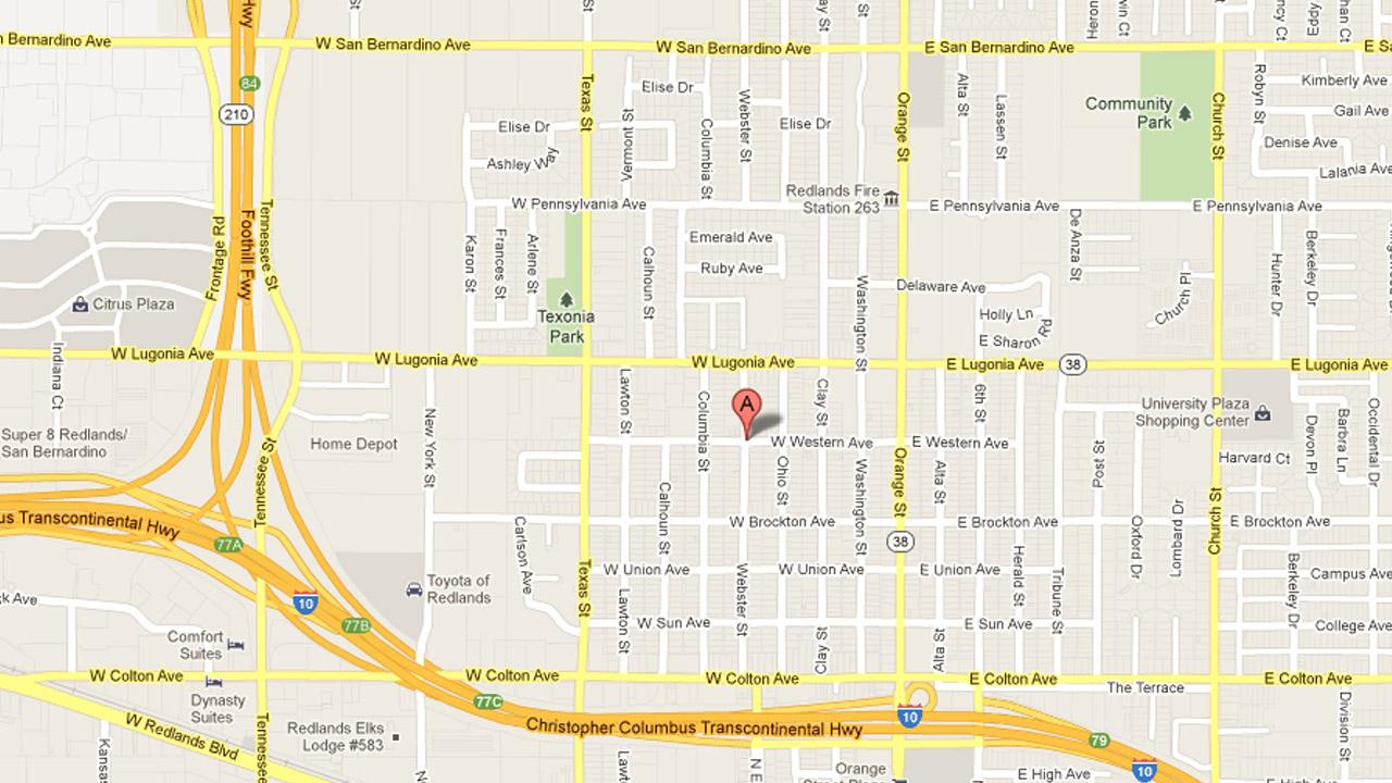A 21-year-old man, an apparent victim of a murder, was found in the 1200 block of Webster Street in Redlands, pictured in this Google map, on Saturday, Oct. 20, 2012.