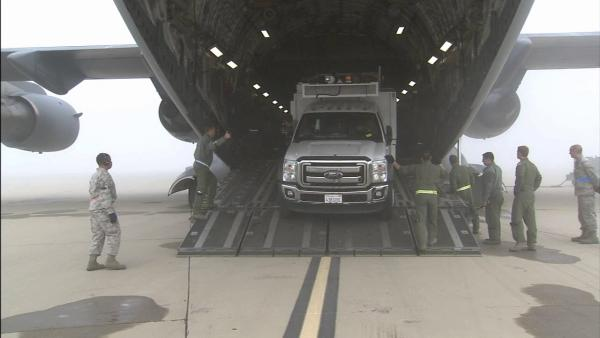 70 SoCal Edison trucks head east via C-17s