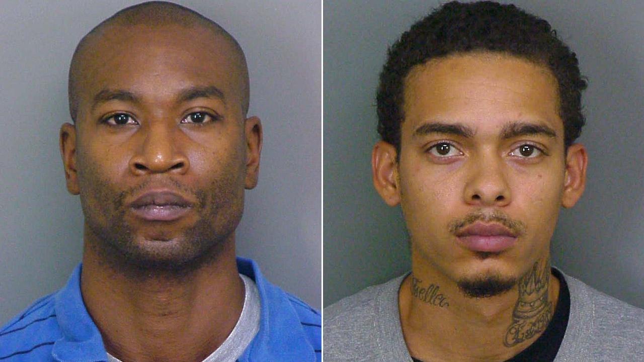 Steven Carter, left, and Michael Andre Hall were arrested in connection to the botched home invasion robbery that left three people dead in Ontario.