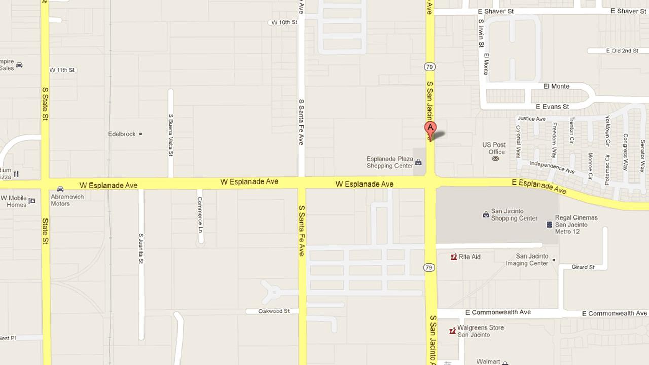 A map indicates the location of an assault at the San Jacinto 7-Eleven on Sunday, Dec. 23, 2012.