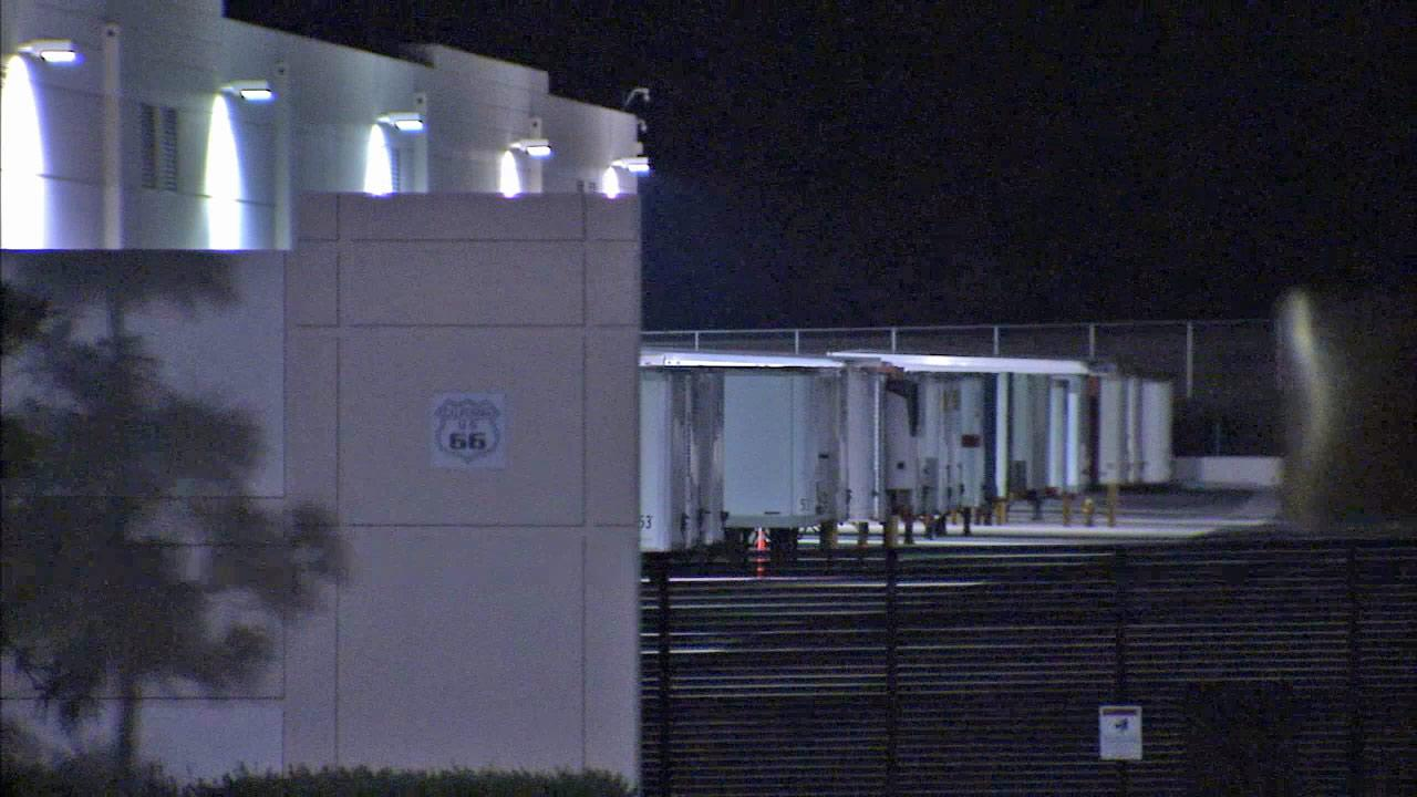 Police said thieves stole a trailer full of electronics from the Cajon Distribution Center on Tuesday, Dec. 25, 2012.